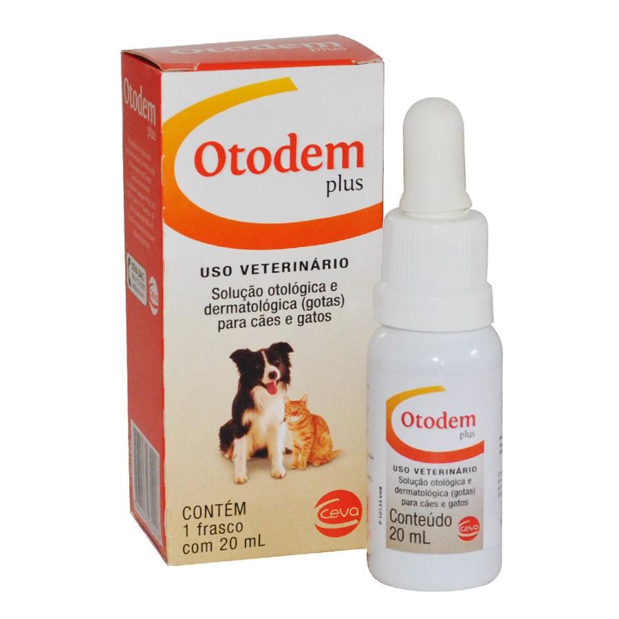 Otodem Plus - Solução Otológica Dermatológica Cães 20ml