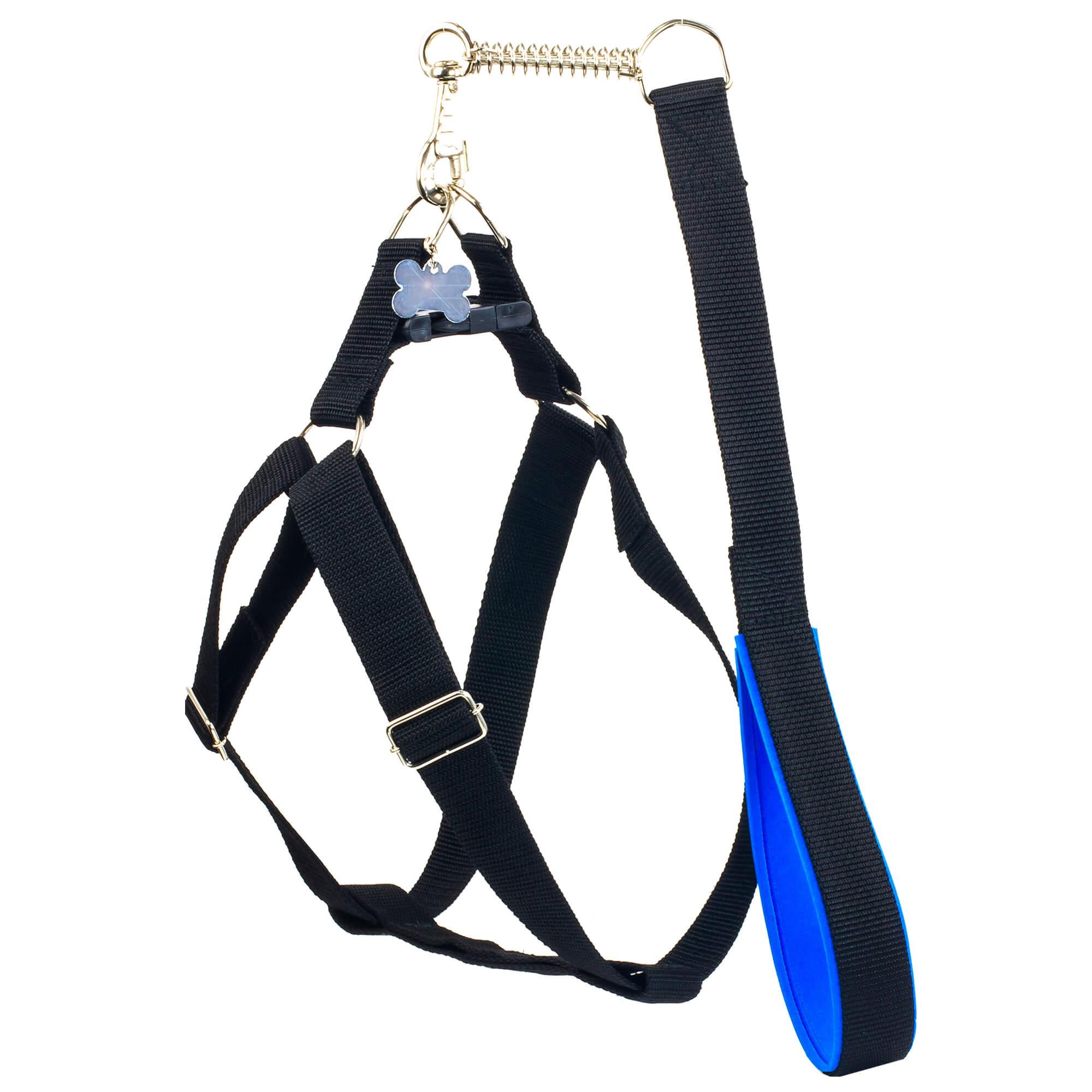 Peitoral Guia Cachorros Raças Grandes Anymous Speciale Azul - M