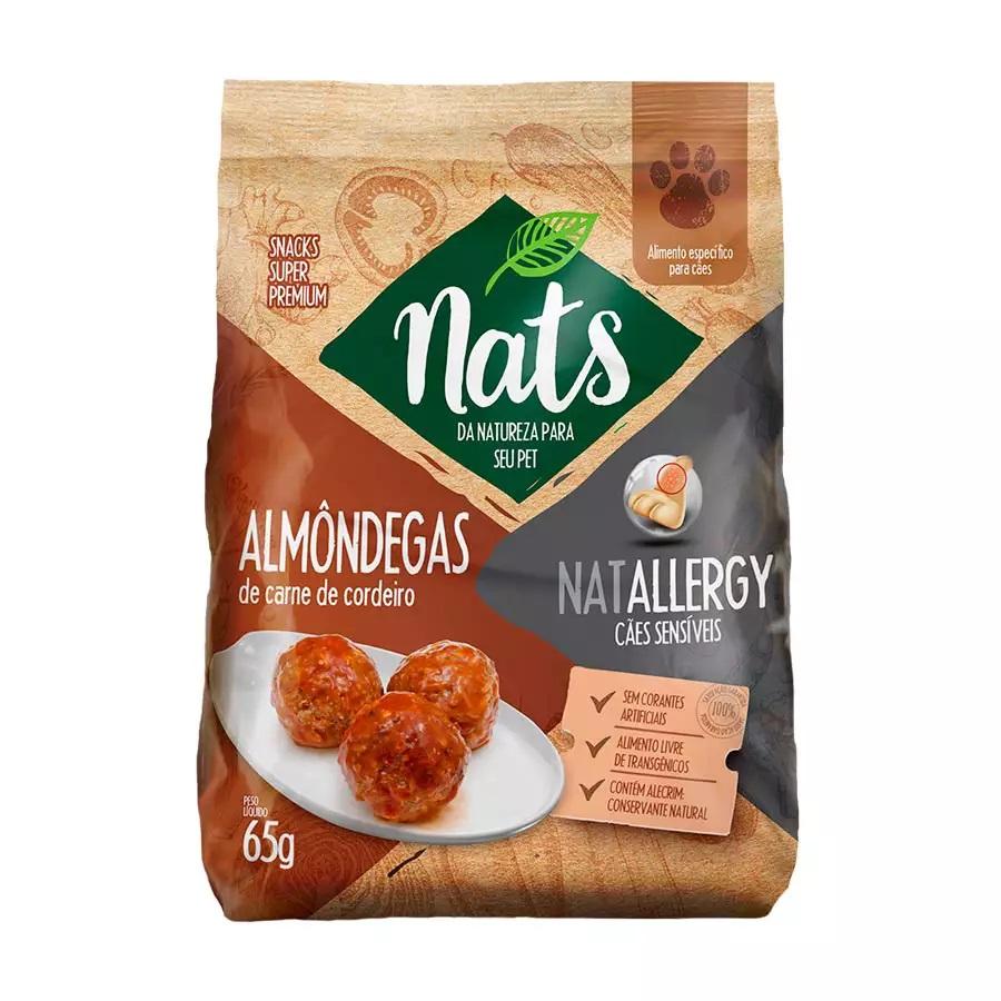 Petisco Almondegas Carne de Cordeiro Nats Natallergy - 65g
