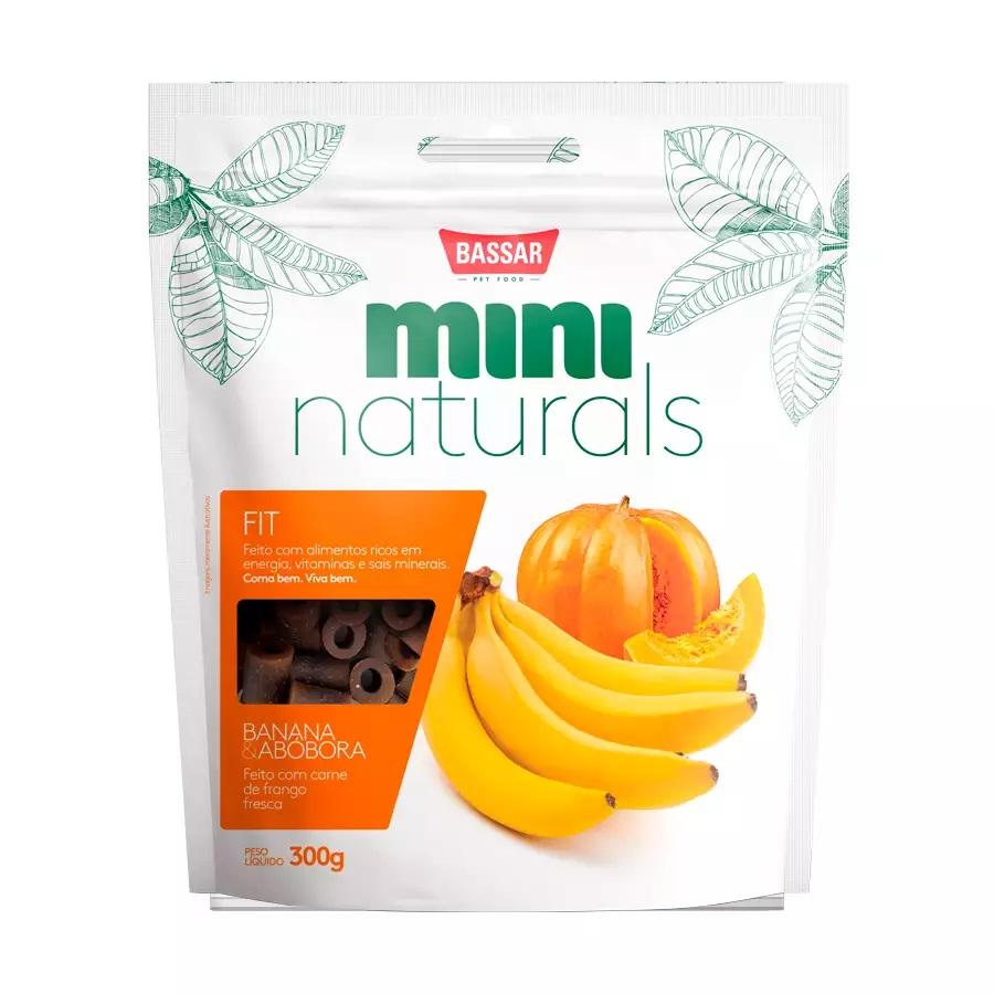 Petisco Bassar Mini Naturals Fit Banana Abóbora 300g