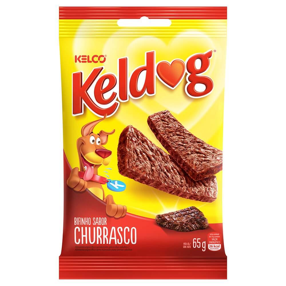 PETISCO BIFINHO P/ CÃES KELDOG SABOR CHURRASCO 65G