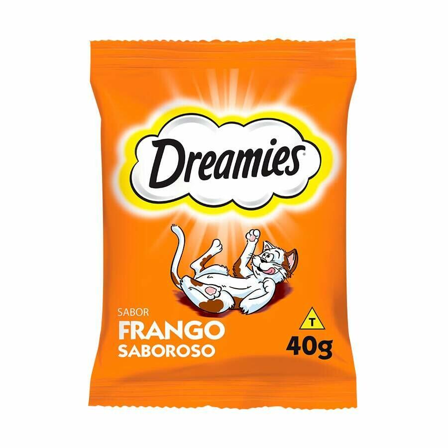 Petisco P/ Gatos Snacks Dreamie Sabor Frango 40g