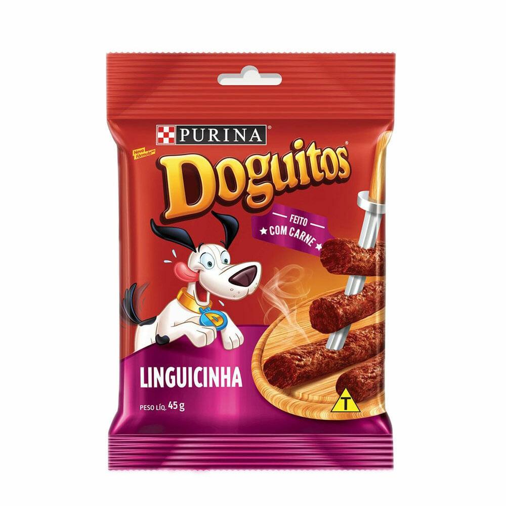 Petisco Palito Linguicinha Purina Doguitos Sabor Carne 45g