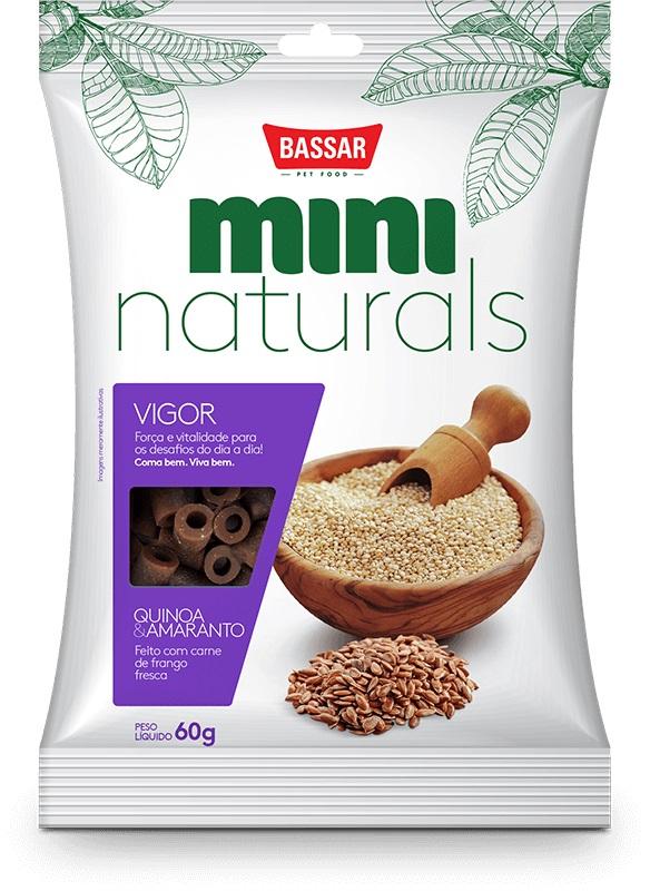 Petisco Snack Bassar Mini Naturals Vigor Quinoa Amaranto - 60g