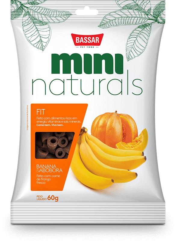 Petisco Snacks Bassar Mini Naturals Fit Banana Abóbora - 60g