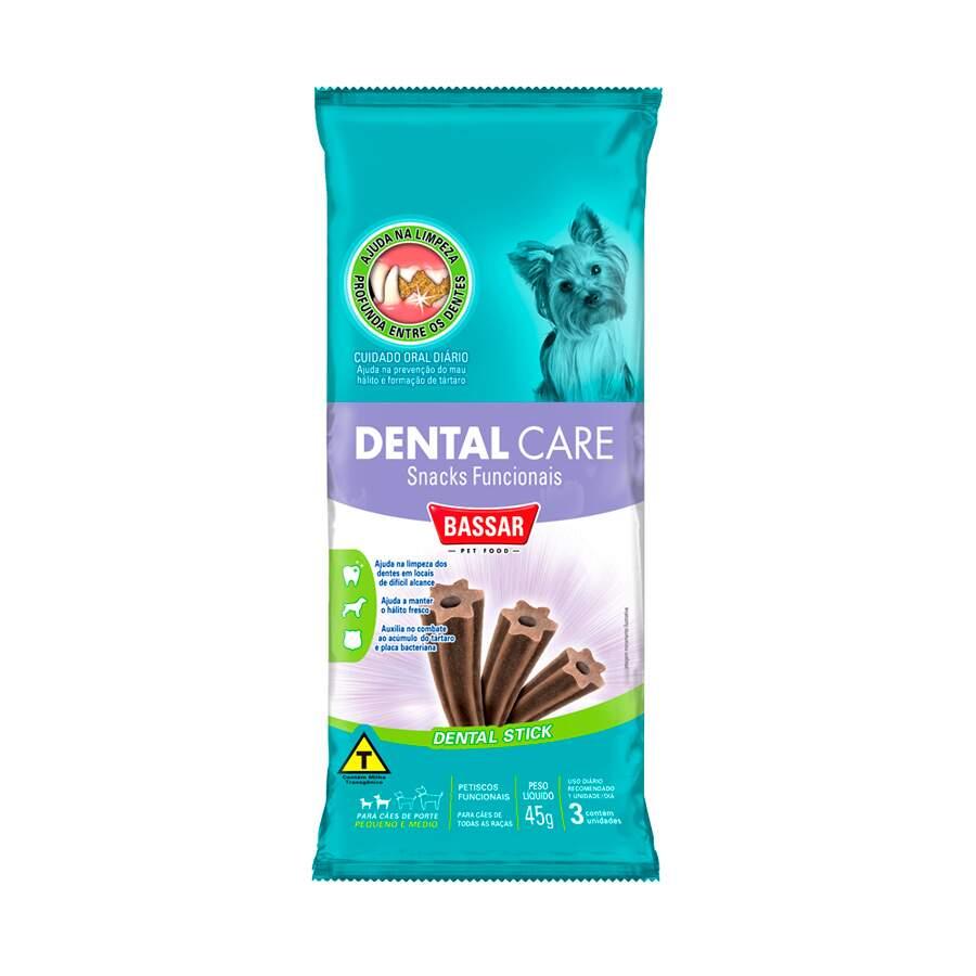 Petiscos Funcionais Snack Bassar Dental Care RaÇAs Peq. 45g - 3 Unidades