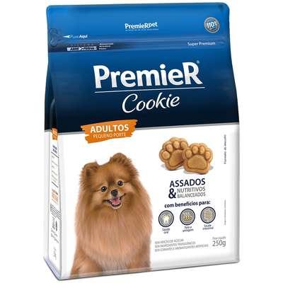 Petiscos Biscoitos Cães Cookie Premier Adultos Raças Peq. 250g