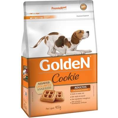 Petiscos P/ CÃEs Cookie Golden Adulto RaÇA Pequena  400g