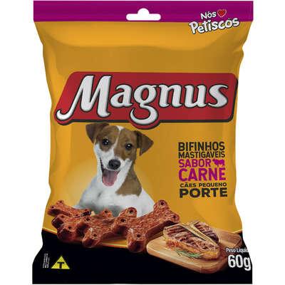 PETISCOS P/ CÃES MAGNUS BIFINHOS MASTIGÁVEIS CARNE - 60G