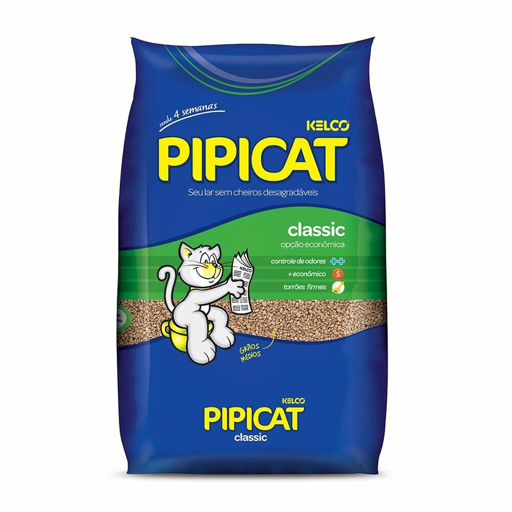 Pipicat - Areia Higiênica para Gatos Classic 4 Kg