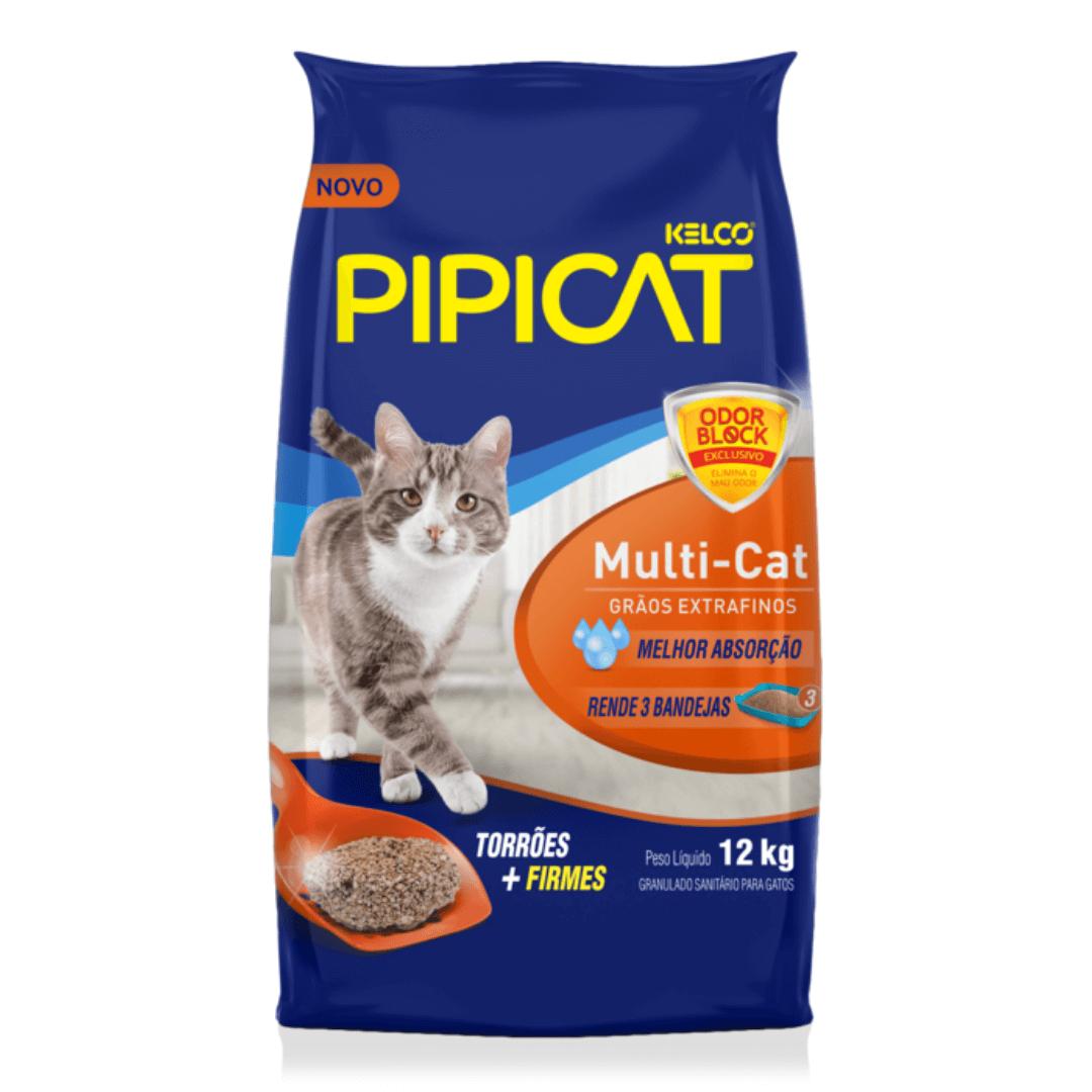 Pipicat Multicat - Areia Higiênica Extrafina Gatos 12Kg