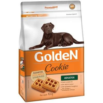 Premier Pet - Biscoito Cookie Golden Adultos Todas Raças 400g