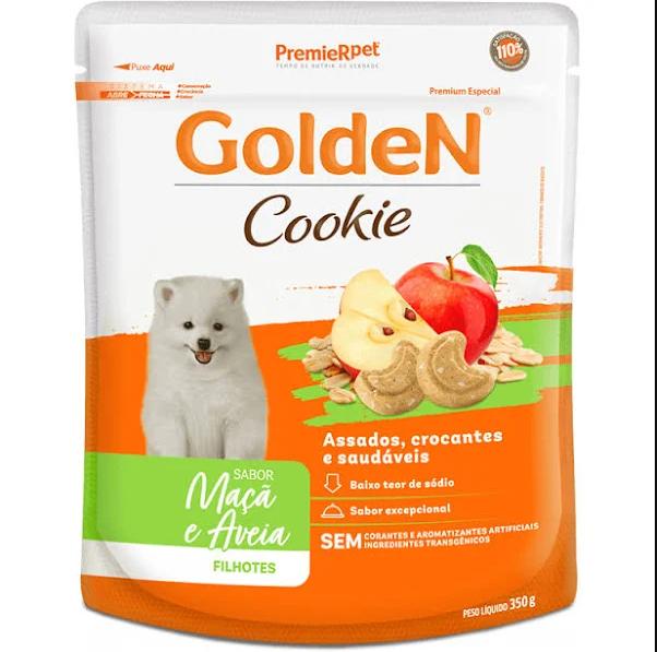Premier Pet - Biscoito Cookie Golden Adultos Maçã e Aveia 350g