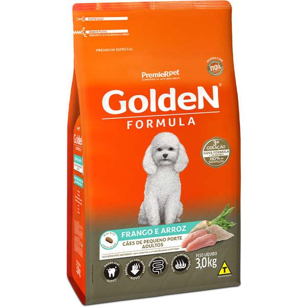 Premier Pet Golden Formula - Ração Cães Adultos Mini Frango 3Kg