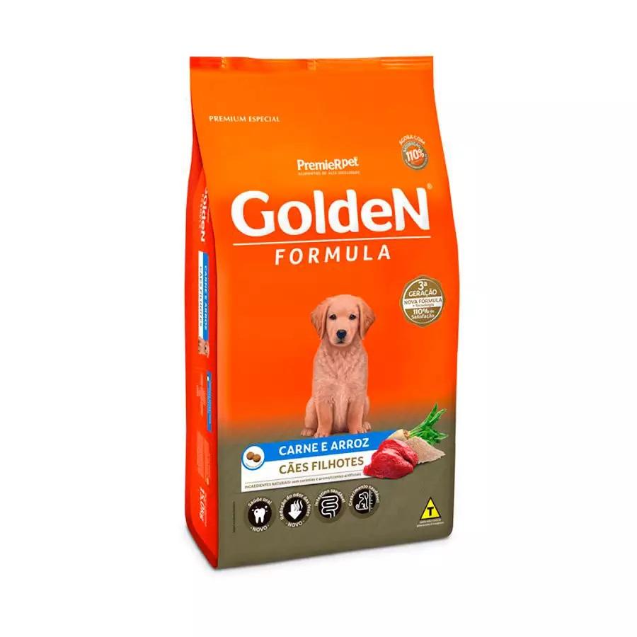 Premier Pet Golden - Ração Cães Filhotes Carne 3Kg