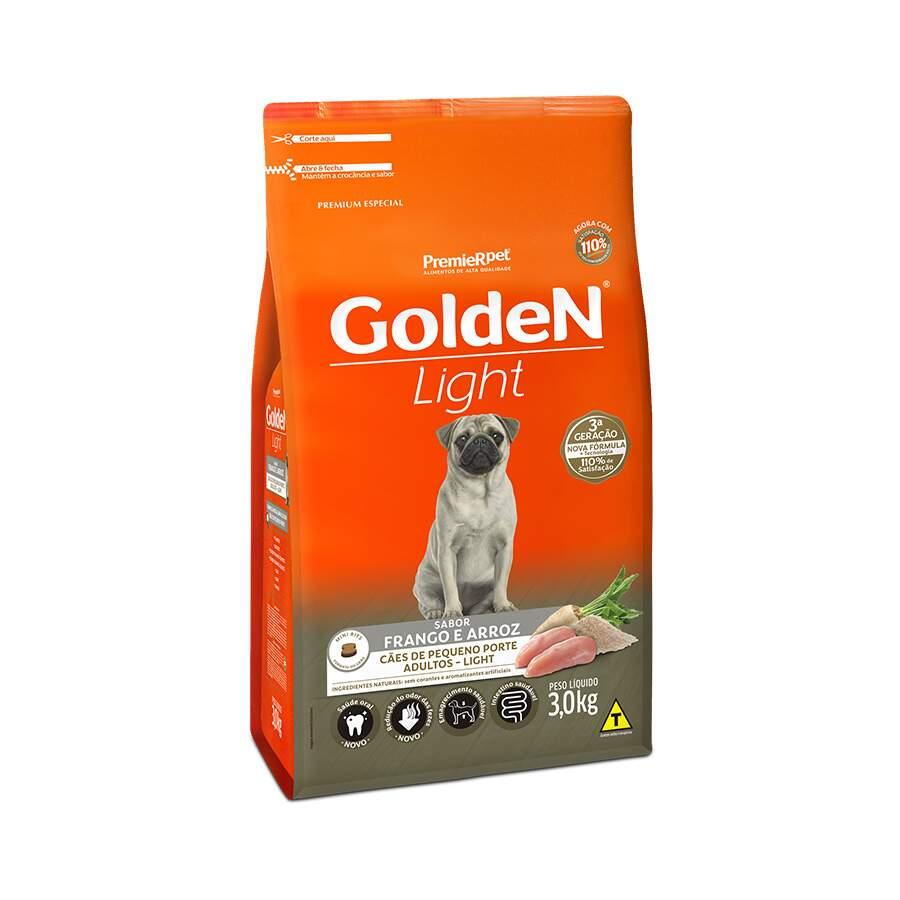 Premier Pet Golden - Ração Light Cães Raças Pequenas 3Kg