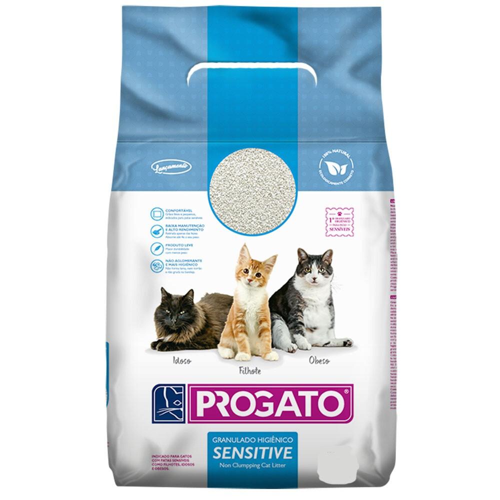 Areia Higiêica Progato Sensitive Gatos 1,8kg