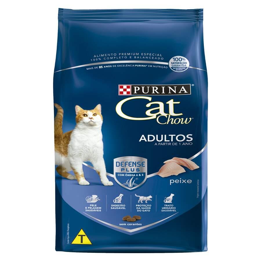 Purina Cat Chow - Ração Gatos 1+ Adulto Peixe 1Kg