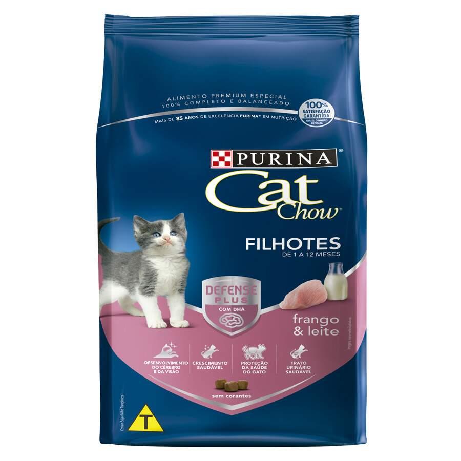 Purina Cat Chow - Ração Gatos Frango Leite Filhotes 1Kg