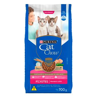 Purina Cat Chow - Ração Gatos Frango Leite Filhotes 700g