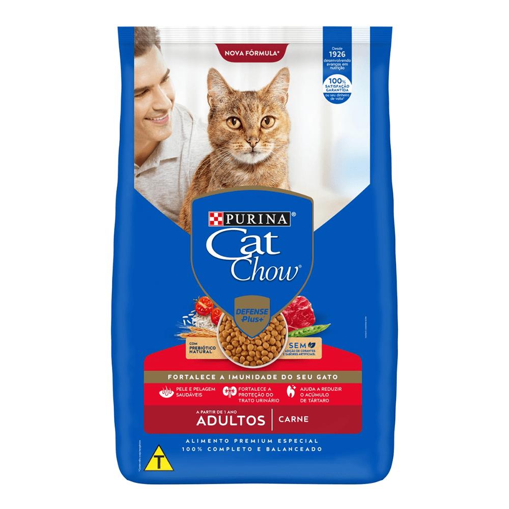 Purina Cat Chow - Ração Gatos Self Defense Plus Adulto Carne 2,7Kg