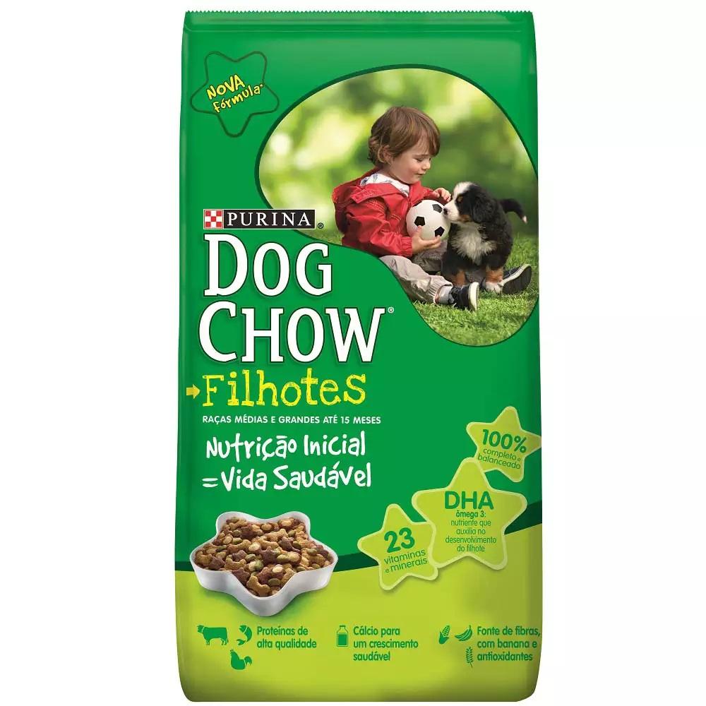 Purina Dog Chow - Ração Cães Filhotes Raças Médias Grandes 1Kg