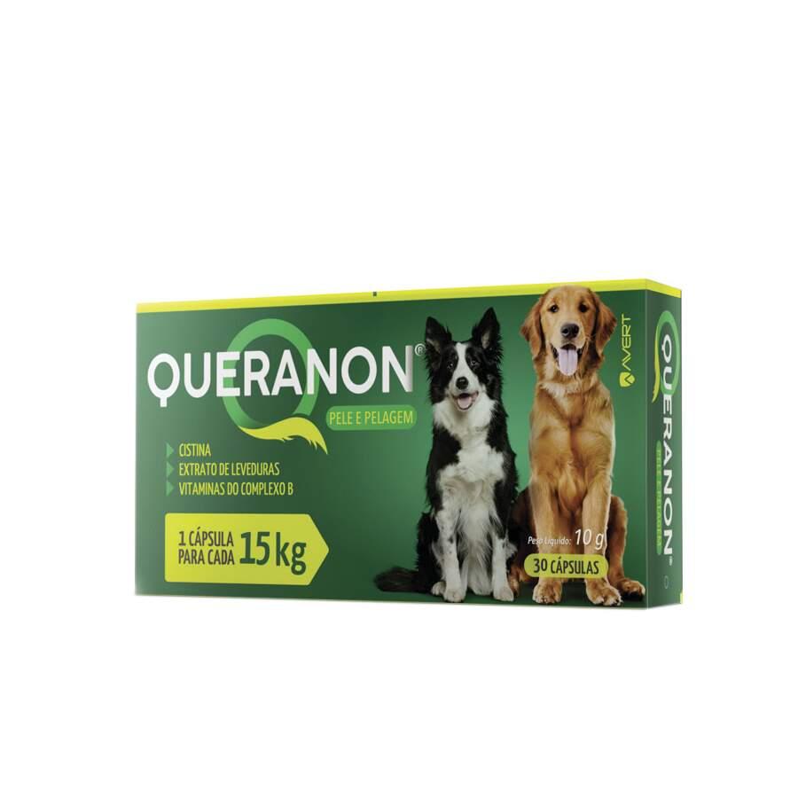 Queranon - Suplemento Vitamínico Cães 15Kg 10g 30 Comprimidos