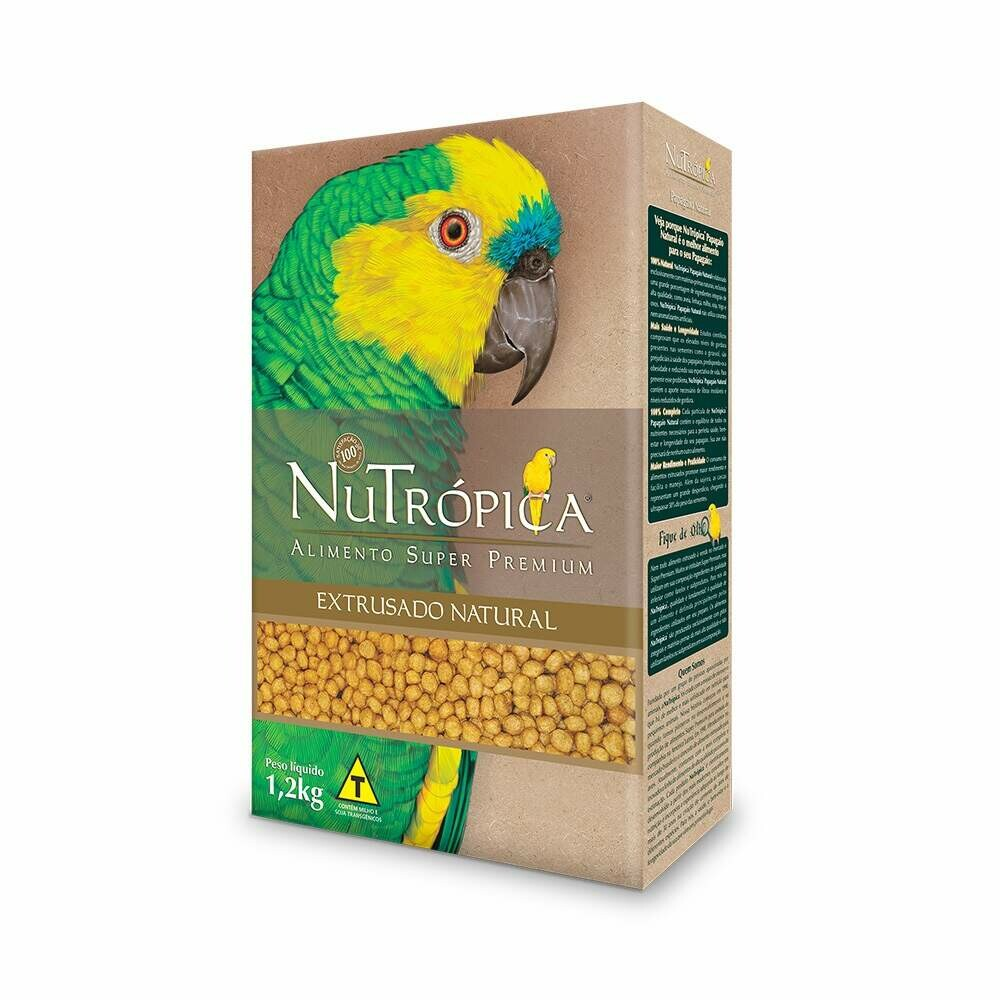Ração Papagaio Nutrópica Extrusado Natural 1,2Kg