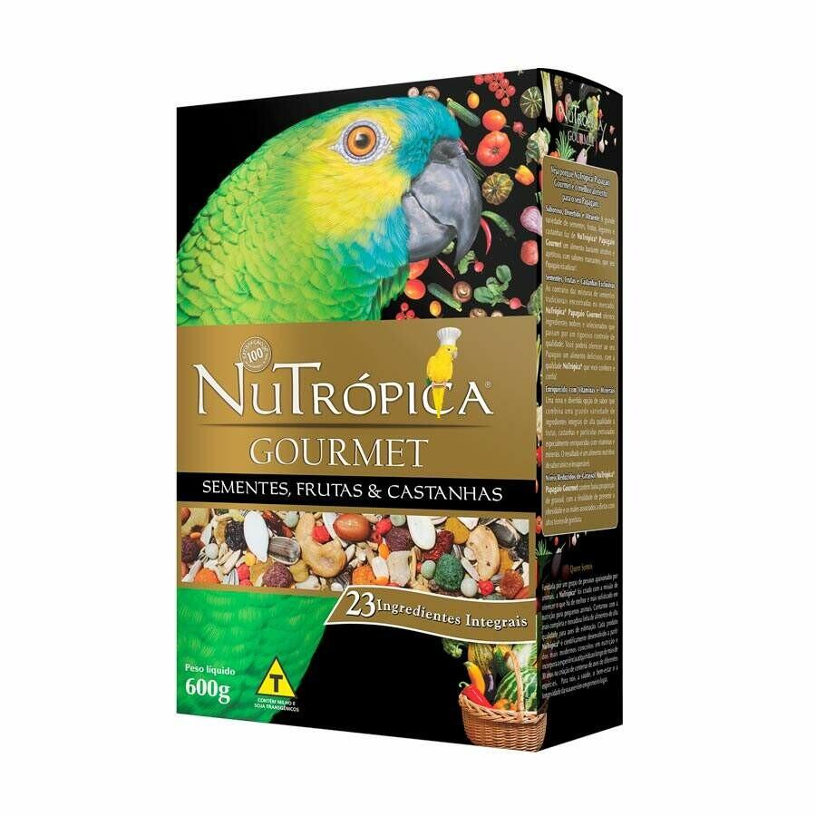 Ração Papagaio Nutrópica Gourmet 600g