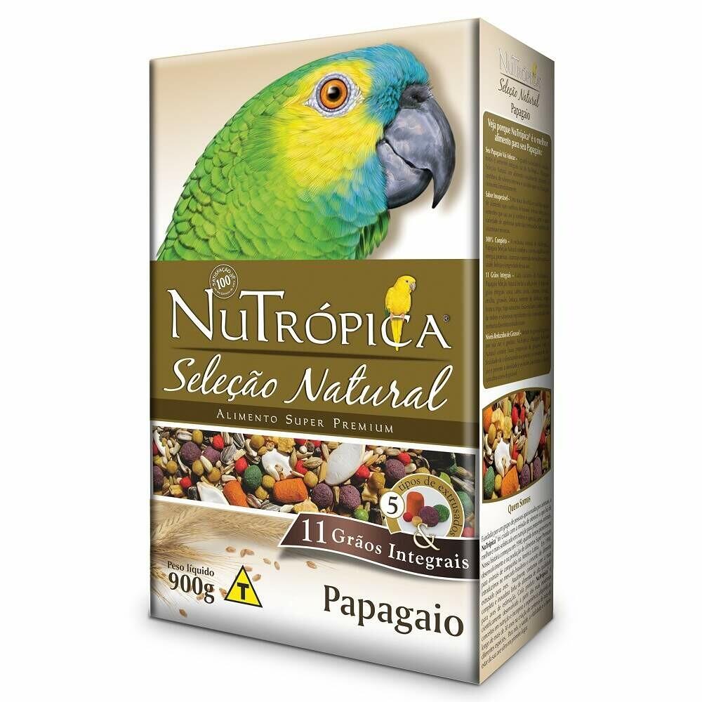 Ração Papagaio Nutrópica Seleção Natural 900g
