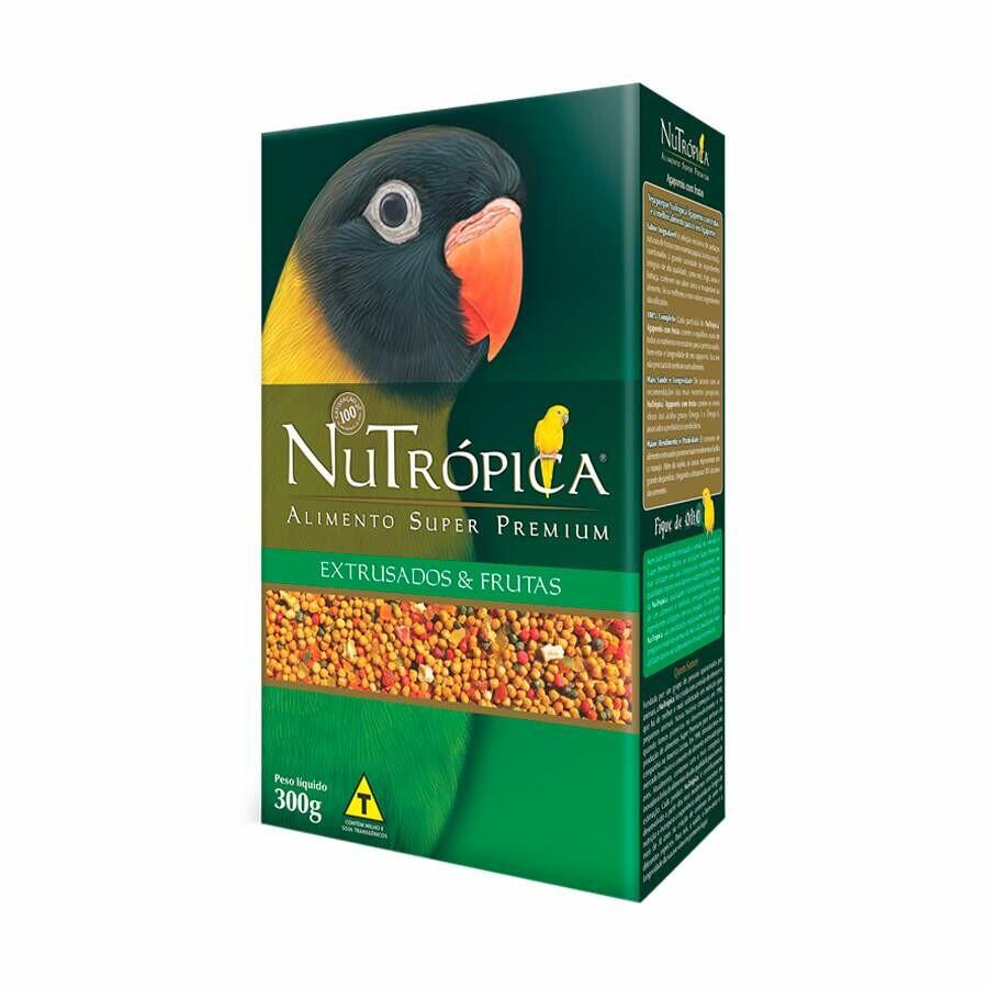Ração para Aves Agapornis Nutrópica Extrusados e Frutas 300g
