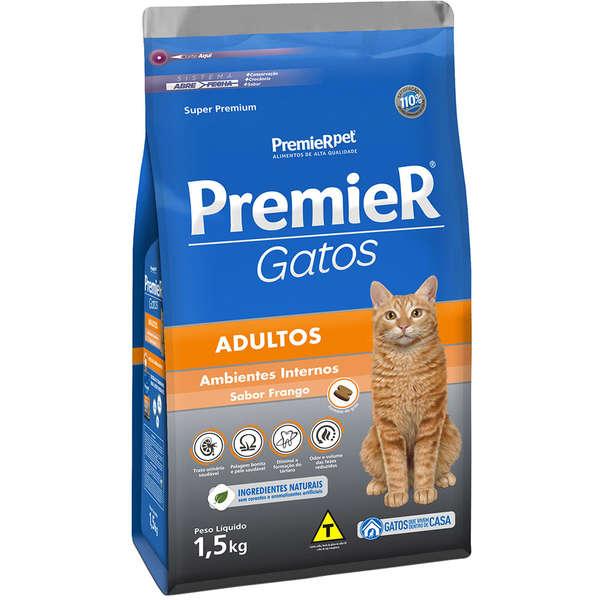 Ração Premier Gatos Adultos Frango 0,5kg