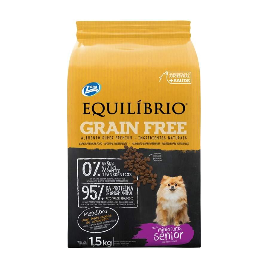 RaÇÃO Seca CÃEs Equilibrio Grain Free Senior Mini 1,5 Kg