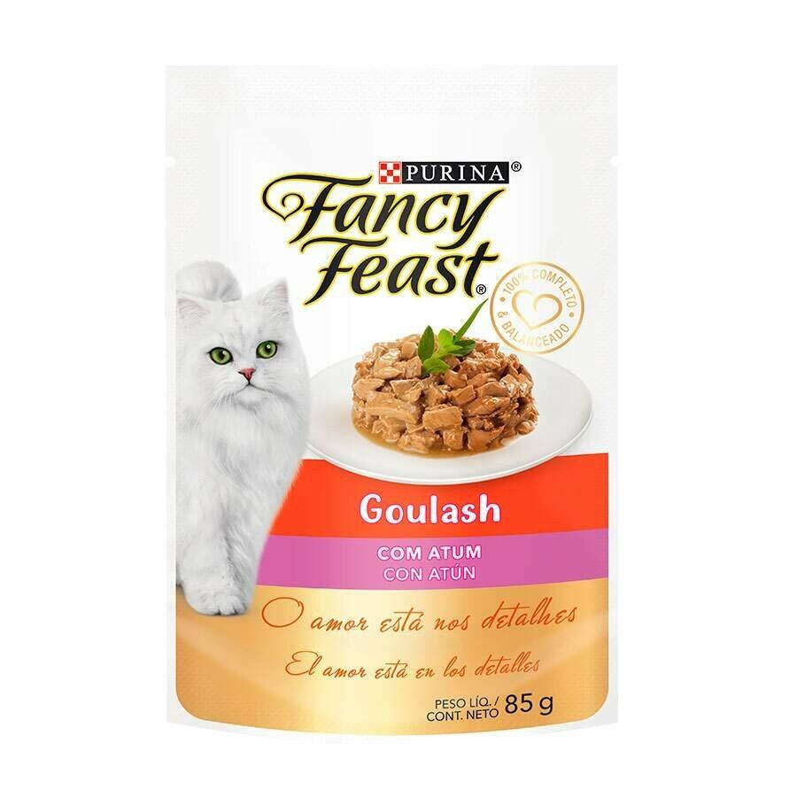 Ração Úmida Fancy Feast Goulash Atum 85g