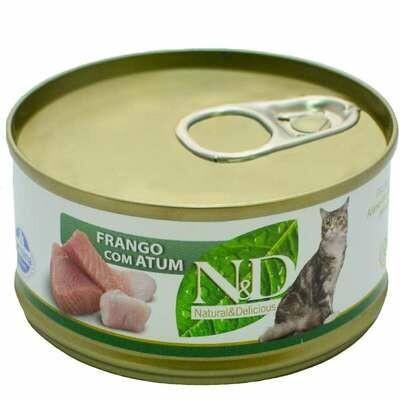 Ração Úmida Gatos Nd Frango e Atum - 70g