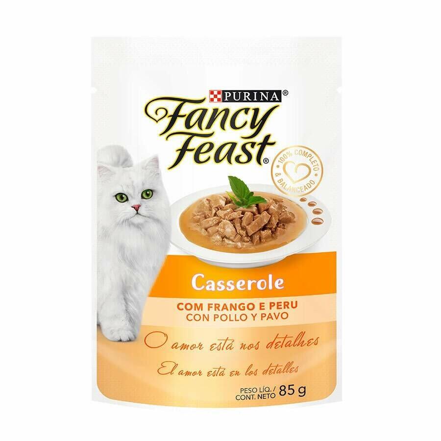 Ração Úmida Purina Fancy Feast Casserole Frango Peru 85g