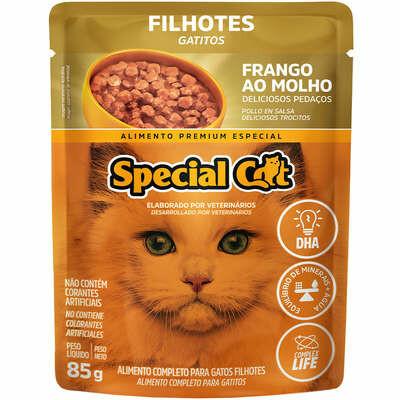 Ração Úmida Sachê Gatos Special Cat Filhote Frango 85g