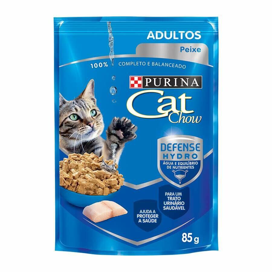 Ração Úmida Sachê Purina Cat Chow Adultos Peixe - 85g