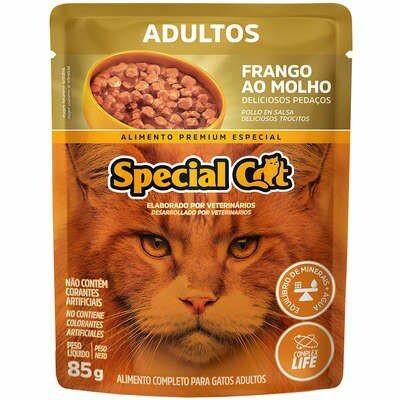 Ração Úmida Sachê Special Cat Adulto Frango 85g