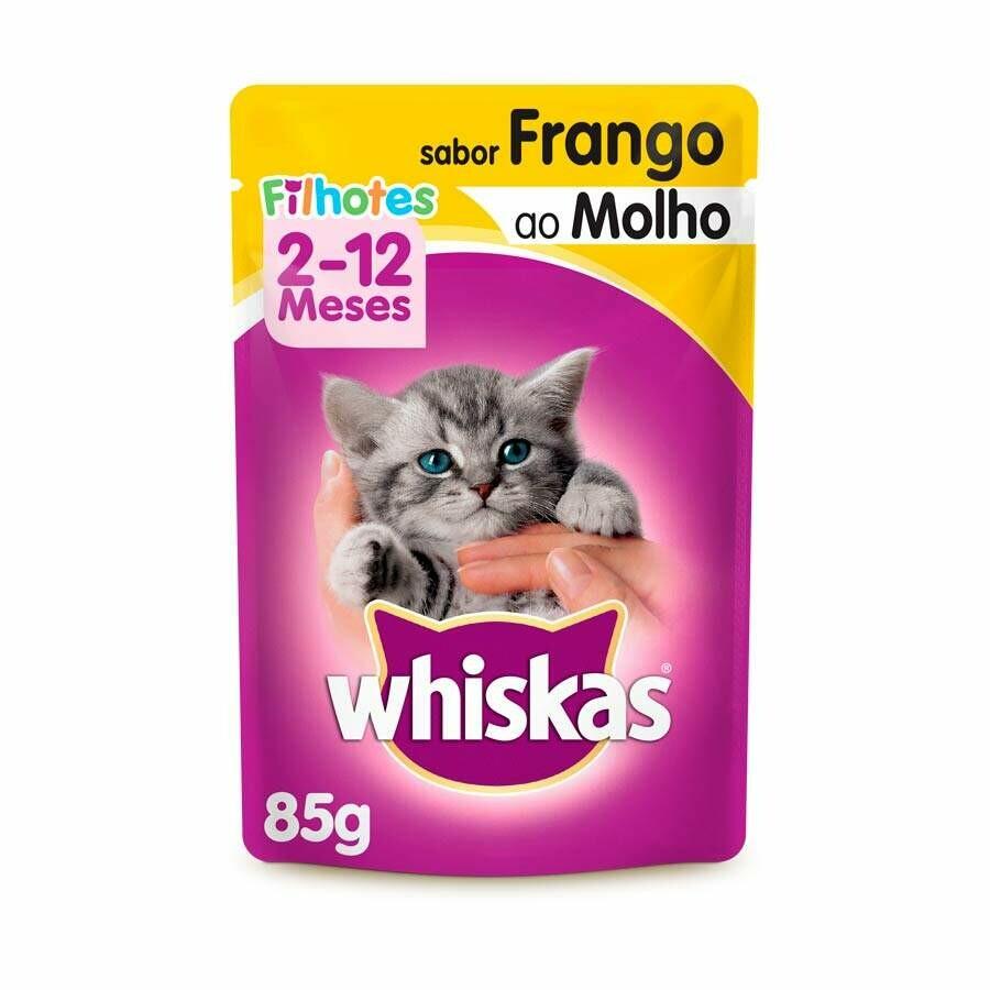 Ração Úmida Sachê Whiskas Frango Filhotes - 85g
