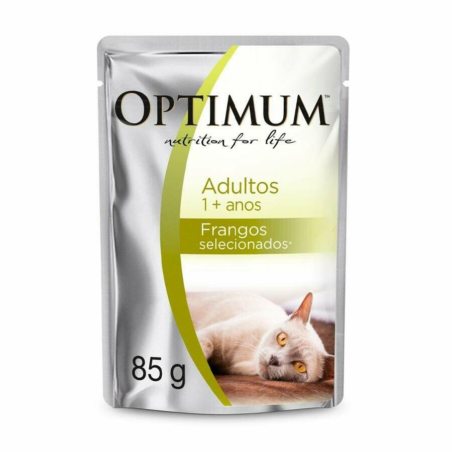 Ração Úmida Sache Optimum Gatos Adultos Frango 85g