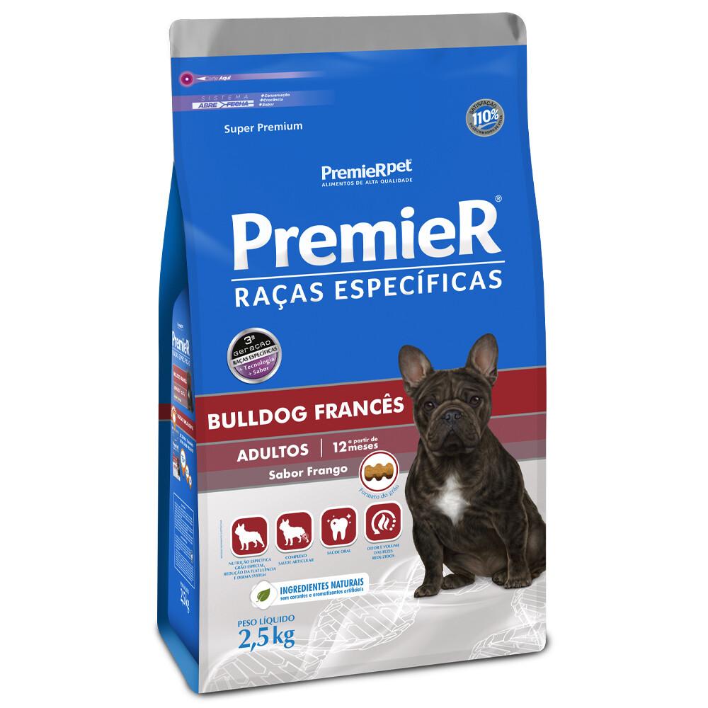 Ração Premier Pet Racas Bulldog Frances Adultos 2,5 Kg