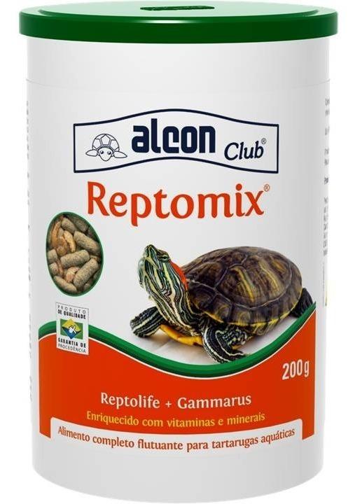 Ração Completa Tartaruga e Gammarus Alcon Club Reptomix 200g