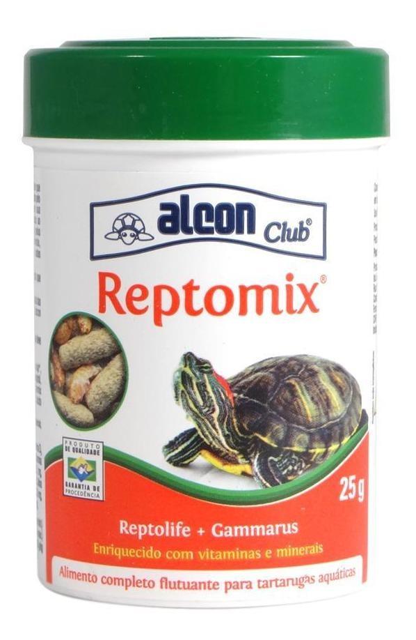 RaÇÃO Completa Tartaruga E Gammarus Alcon Club Reptomix 25g