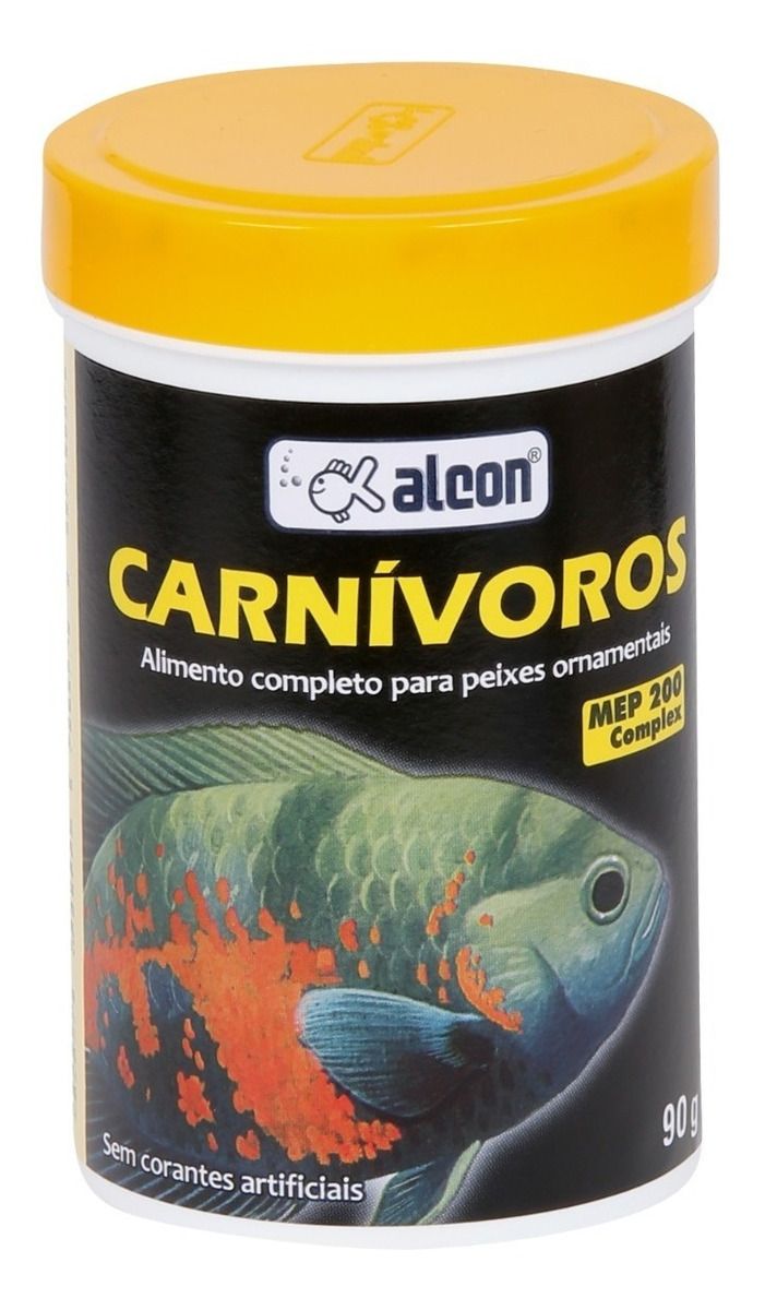 RaÇÃO Peixe CarnÍVoro Ornamental Alcon 90g