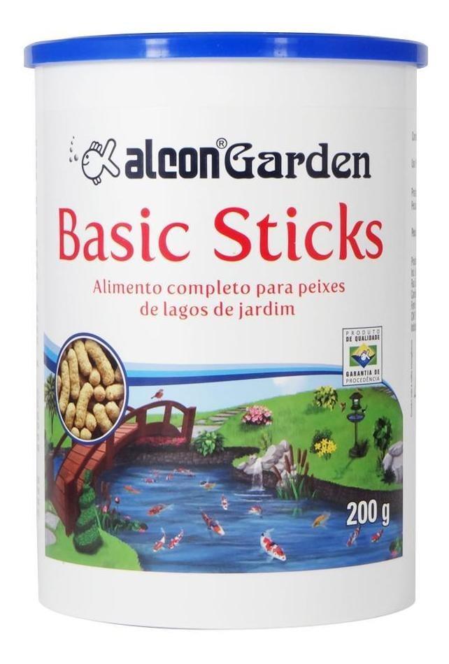 Ração Peixes Lagos e Tanques Alcon Gardem Basic Sticks 200g