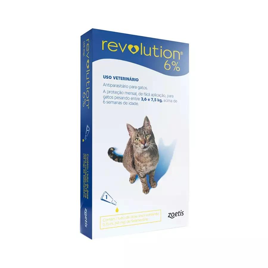 Revolution 6% - Antipulgas para Gatos 2,6Kg - 7,5Kg