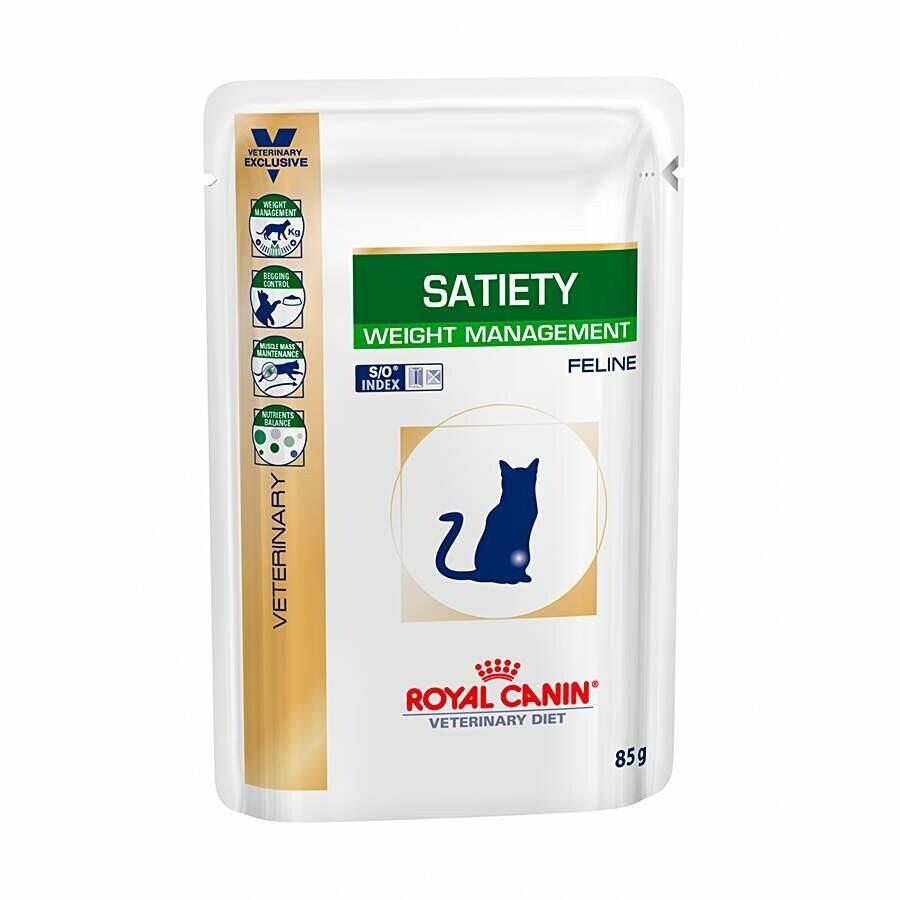 Ração Úmida Sache Gatos Royal Canin Satiety 85g
