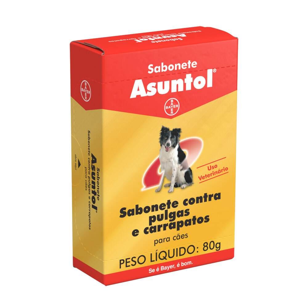 Sabonete Antipulgas e Carrapatos Cães Bayer Asuntol 80g