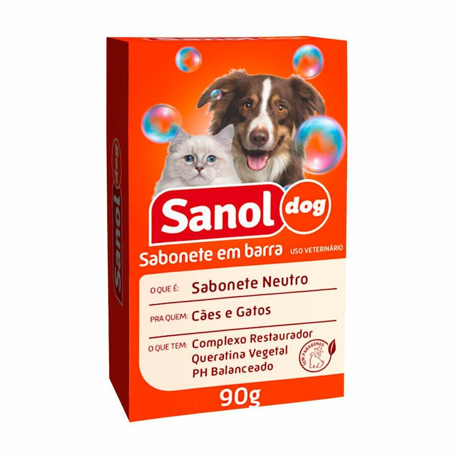 Sabonete em Barra p/ Cães Sanol Dog Neutro 90g